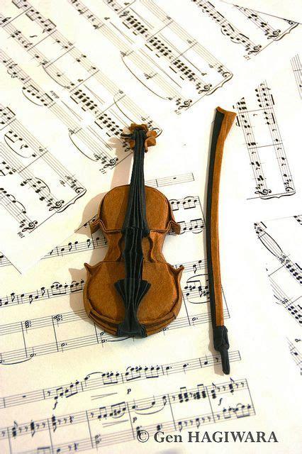 origami violin tutorial violin by gen hagiwara via flickr origami pinterest