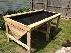 Raised Bed Planter Plans by Raised Planter Bed From Pallets