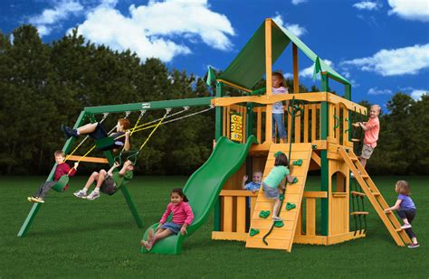gorilla swing set clearance lowest price gorilla chateau ii clubhouse playset