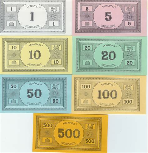 monopoly money template printable replacement monopoly money or go here for