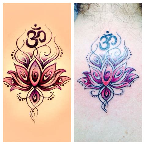 henna lotus tattoo my om lotus flower omtattoo ink