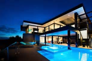 Modern Mansions by Wandana Residence Modern Dream Home In Black Amp Blue