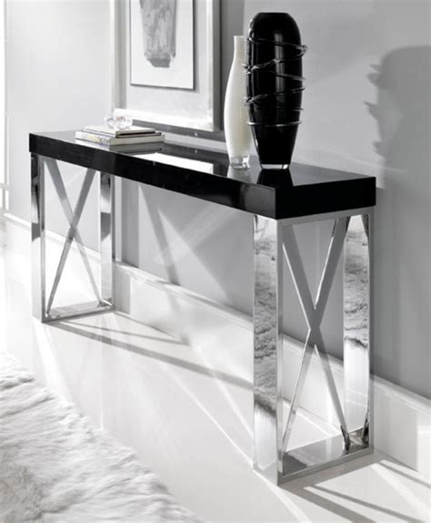 modern white console table 10 black and white modern console tables