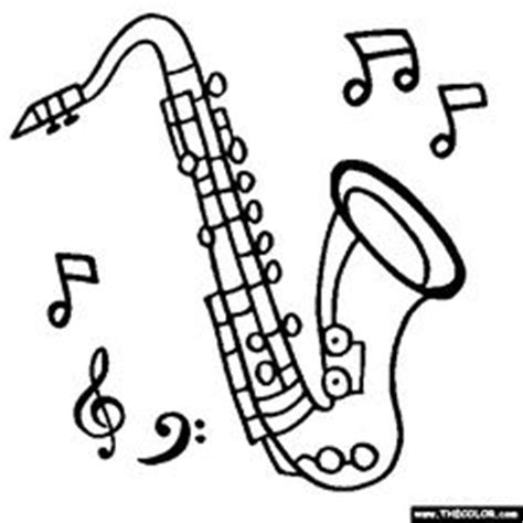 jazz music coloring pages 1000 images about saxophone on pinterest saxophone