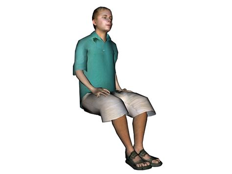 Model Sitting On Chair by Sitting On Chair 3d Model 3ds Max Files Free Modeling 21035 On Cadnav