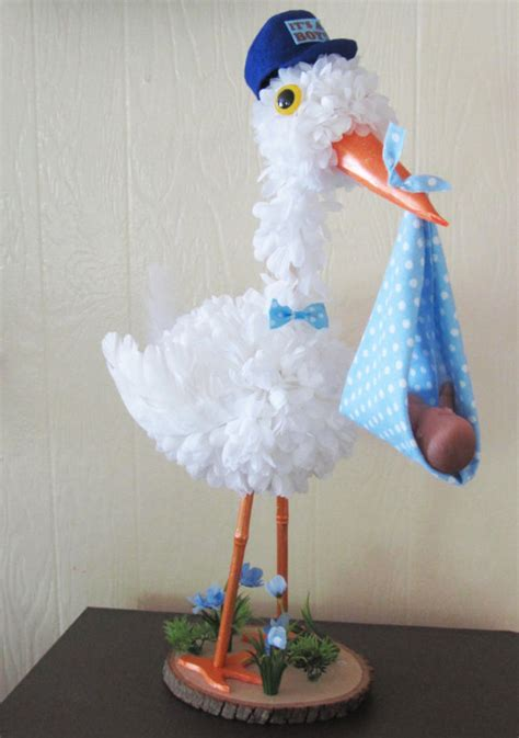 unique baby shower centerpieces for boys stork centerpiece baby boy stork centerpiece unique baby