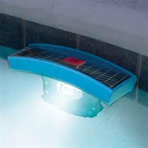 pool lights solar the solar pool light hammacher schlemmer