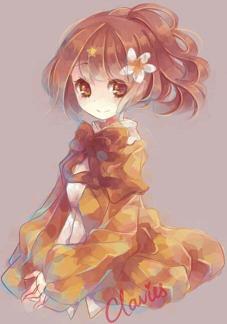 girl with brown hair and gold eyes anime girl brown hair golden eyes flower cute by