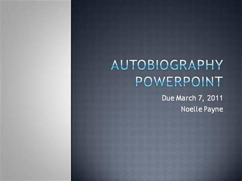 Autobiography Powerpoint Authorstream Powerpoint Biography Template
