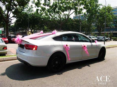 wedding car audi white audi s5 wedding car decorations by ace drive car rental