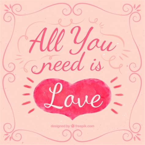 all you need is and a all you need is quote vector free
