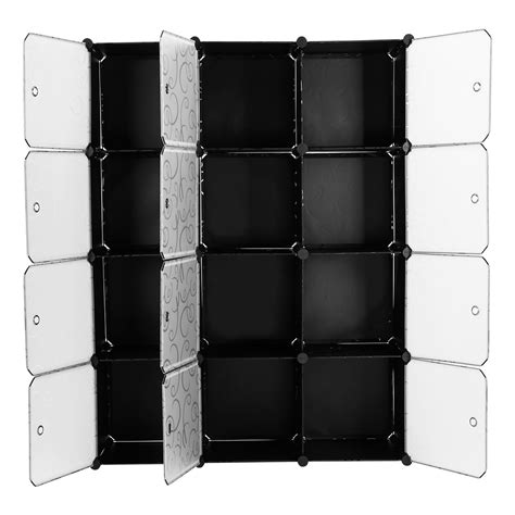 12 cube modular storage organiser clothes wardrobe shoe