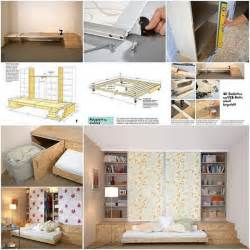 Practical solution for small apartments hidden bed home design