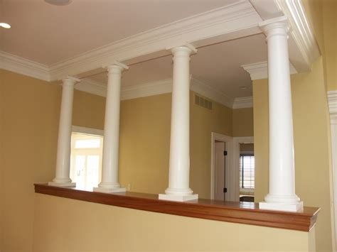 indoor columns interior columns eclectic living room philadelphia