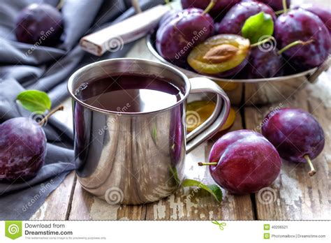 Fruit Juice Fresh Green Plum Juice plum juice stock photo image 40206521