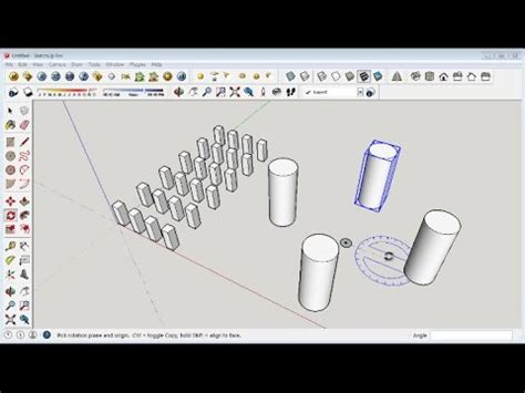 google sketchup tutorial copy sketchup copy array and rotate multiple object youtube