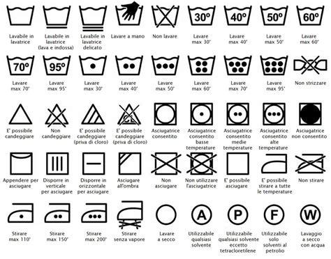 Simboli Capi Da Lavare by Leggere Le Etichette Di Lavaggio Significato Dei Diversi