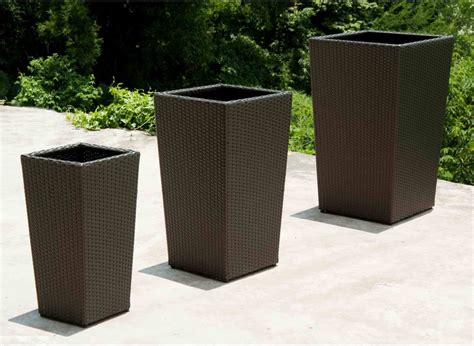 Large Resin Planters Outdoor by Best Outdoor Planters Ideas
