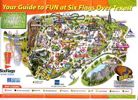 six flags texas arlington map texas six flags texas