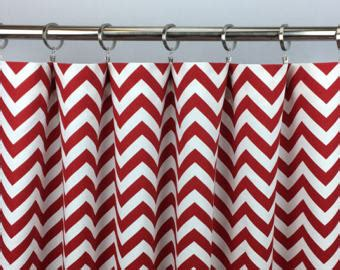 red and white chevron curtains red chevron curtains etsy