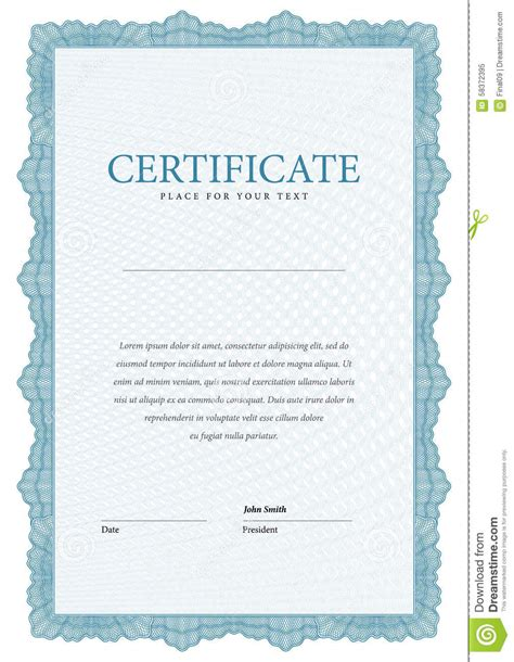 money certificate template modern certificate template diplomas currency stock