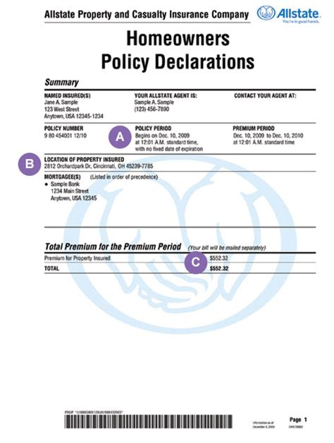 Policy Declarations ? Homeowners Insurance Made Simple