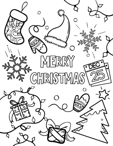 Printable Merry Christmas Coloring Page Free Pdf Download A Merry Coloring Pages
