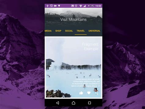 unique themes for android tab screen travel theme material design ui template app
