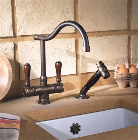 rustic kitchen faucets valence rustic kitchen faucet in copper brass rustic