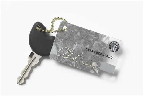 Keychain Barista Starbucks designer keychain coffee cards christian siriano starbucks collaboration is on time for the holida