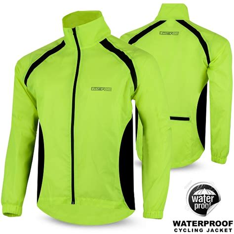 mens hi vis waterproof cycling mens cycling rain jacket waterproof hi visibility running