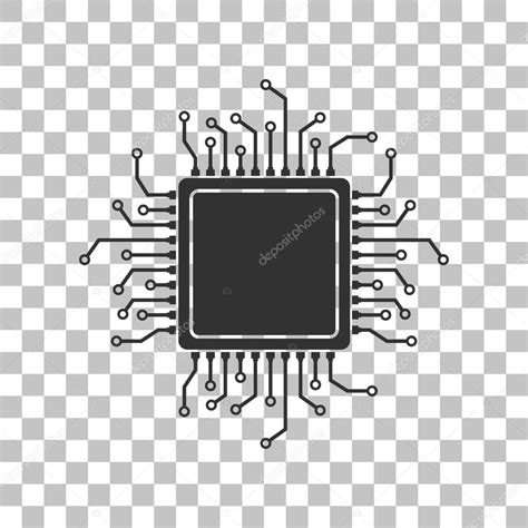 Computer Science Mba Programs No Background by Cpu Microprocessor Illustration Gray Icon On