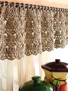 Crochet Valance Curtains A Lovely Crochet Curtain ღ Shabby Chic That I ღ