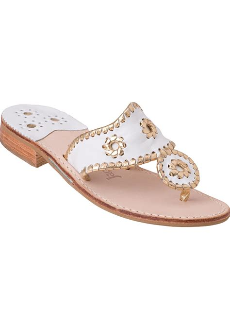 white and gold sandals rogers sandal gold white leather in metallic lyst