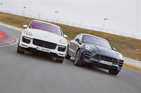 Porsche Macan Vergleich by Porsche Suvs Im Vergleich Kann Der Macan Den Cayenne