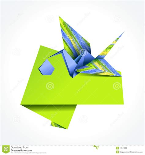 Origami Stork - origami stork delivering boy stock photos image 19541623