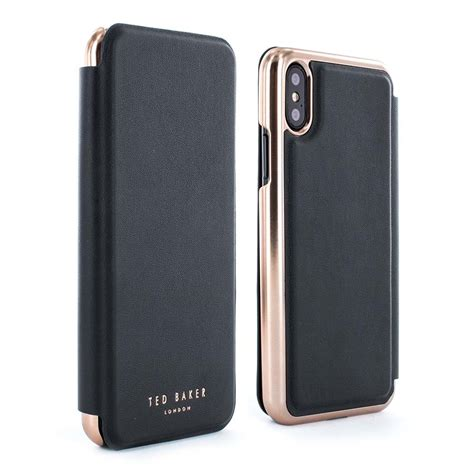 ted baker shannon mirror folio case  iphone  xs