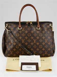 louis vuitton black monogram canvas pallas bag yoogis