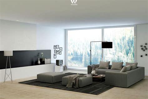 grau und schwarz wirkt immer sehr edel im wohnzimmer