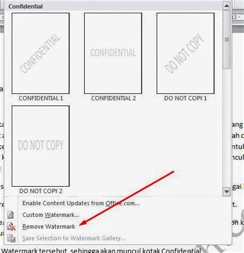 membuat watermark di word 2010 cara mudah membuat tulisan confidential di word 2010