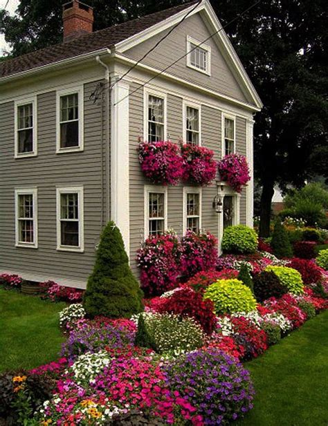 flower design house small lanscaping ranch house design with beautiful various