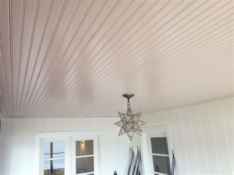White Pine Tongue And Groove Ceiling by Beadboard Ceiling Install