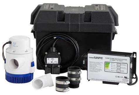 water powered and 12 volt battery backup sump systems