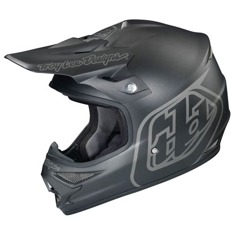 black motocross helmet troy designs tld mx air midnight matte black