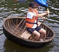 small round boat is traditional boats of the irish