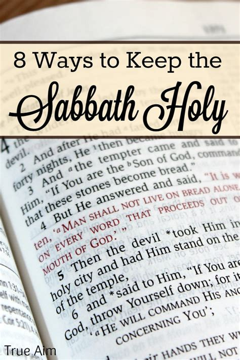 keep the sabbath for your sake true aim