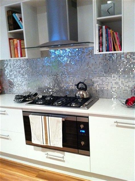 sparkly kitchen splashback home