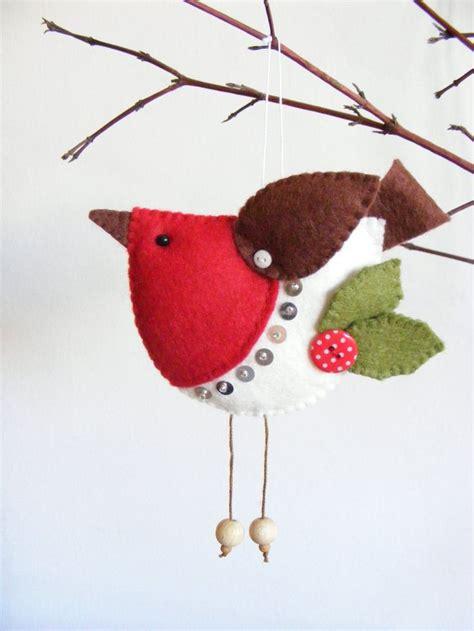 pattern for christmas robin pdf pattern felt robin christmas tree ornament easy