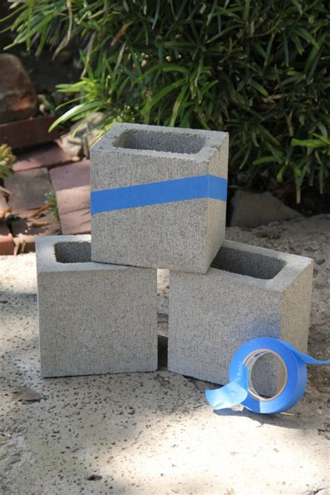 How To Make A Cinder Block Planter by Diy Painted Cinder Block Planters