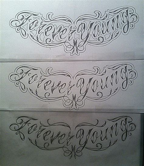 forever tattoo designs forever chest design sketch by
